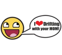 Наклейка I Love Drifting with your mom