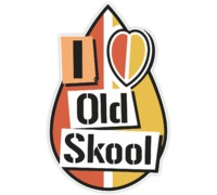 Наклейка I Love Old Skool