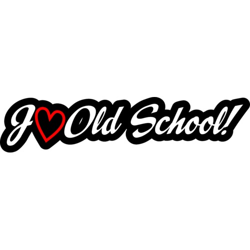 Наклейка i love old school