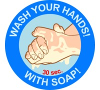 Наклейка Wash your hands