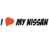 Наклейка i love my nissan